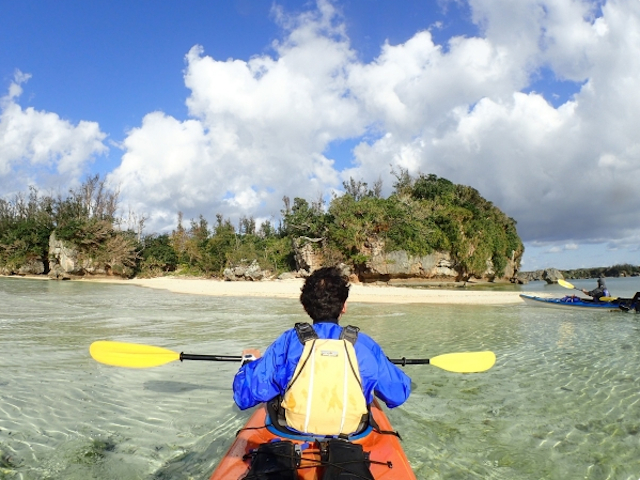 無人島を目指し出発!photo by そとあそび