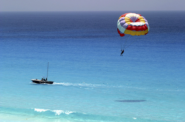 photo by Parasailing over the Water of the Riviera Maya | Flickr - Photo Sharing!