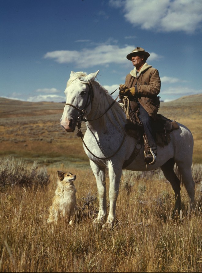 photo by No Known Restrictions: Shepherd with his Horse and Dog by Russell Lee, 1942 (LOC) | Flickr - Photo Sharing!