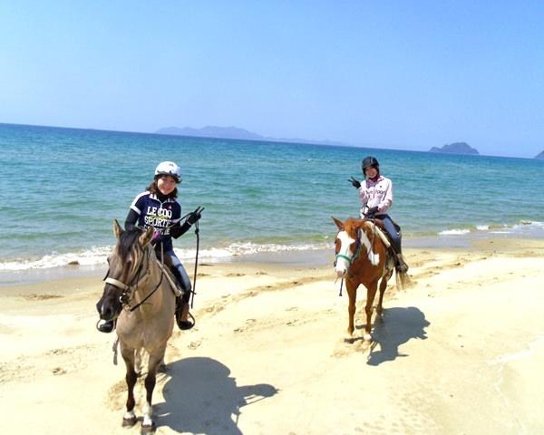 photo by 玄界灘・宗像 ホーストレッキング(乗馬)/カナディアンキャンプ乗馬クラブ|そとあそび