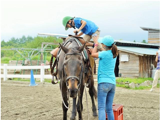 馬に乗ったことがなくても大丈夫!photo by そとあそび
