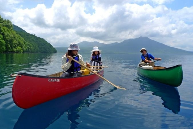 photo by《透明度抜群の支笏湖で過ごす贅沢な時間》 Soto Cafe カヌーツアー(北海道・洞爺)|そとあそび