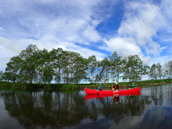 北海道 釧路湿原 カナディアンカヌー