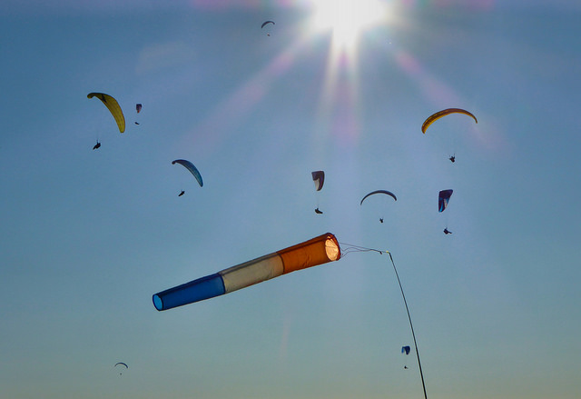 photo by Paragliders over Westbury hill   Flickr - Photo Sharing!