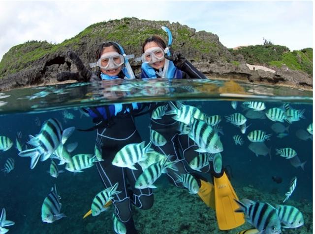 浅い所でもこんなに沢山の魚が!photo by そとあそび
