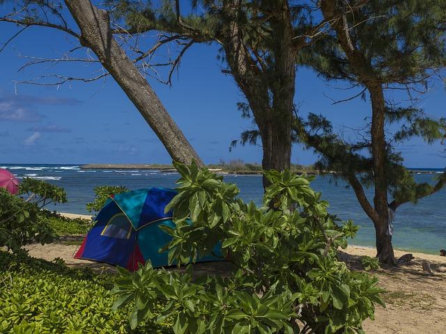 photo by 無料の写真: ビーチ, キャンプ, 海, ツリー, 自然, テント, 水, 熱帯 - Pixabayの無料画像 - 959973