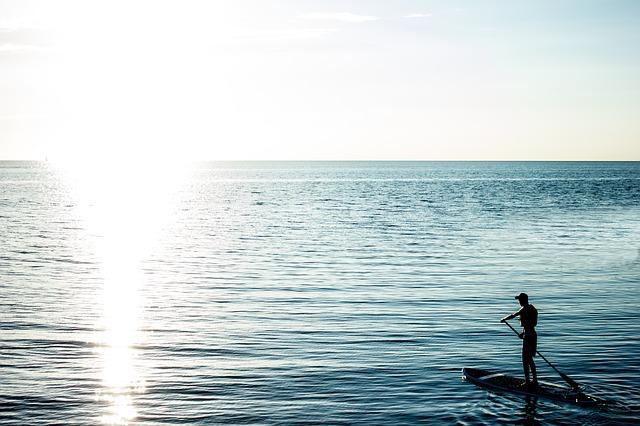 photo by 無料の写真: 日没, 日の出, サウンド, ビーチ, 夏, パドルボード, サーフ - Pixabayの無料画像 - 647031